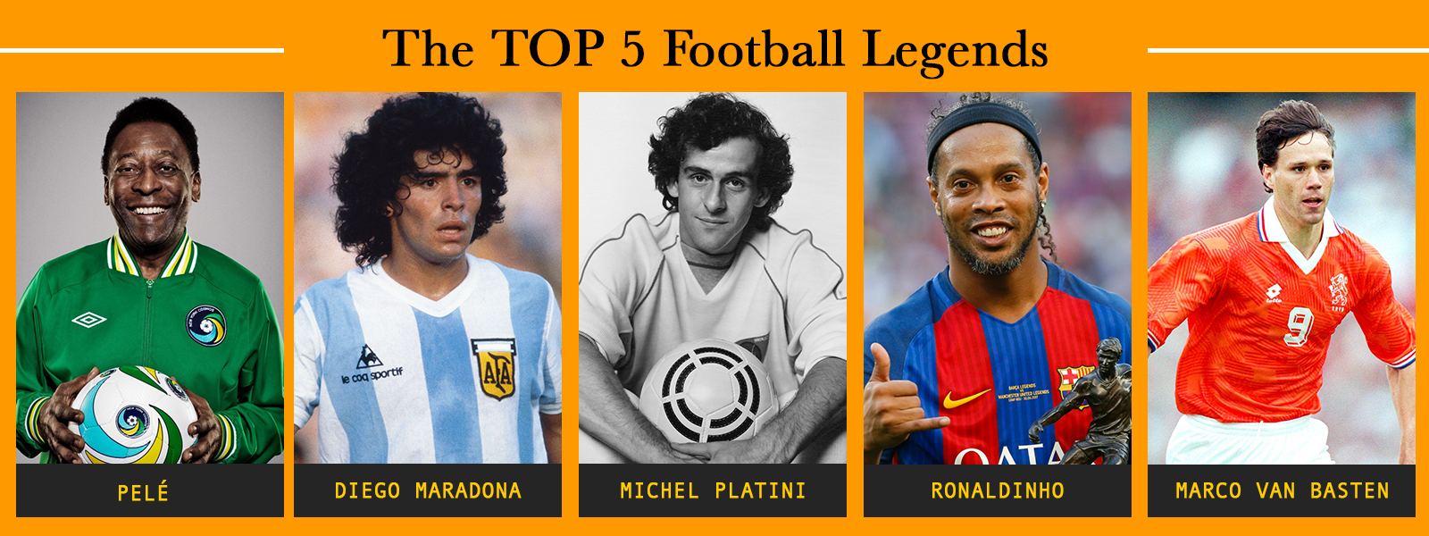 The Top 5 Football Legends