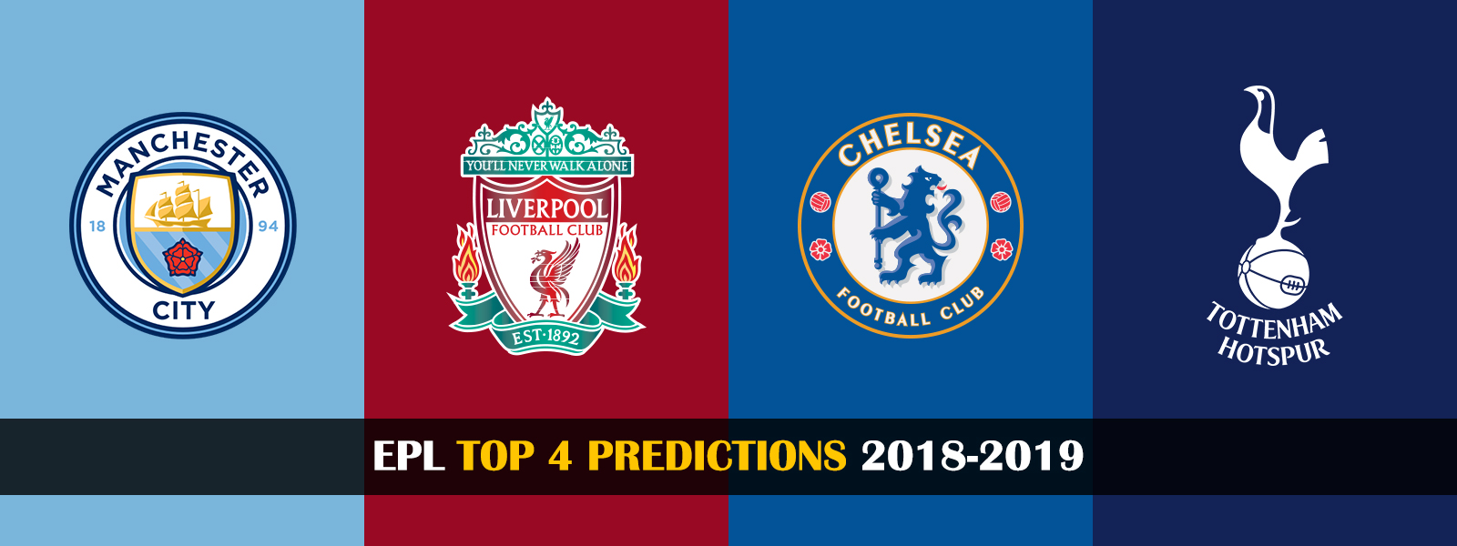 Premier League 2018-2019 Top 4 Clubs Prediction