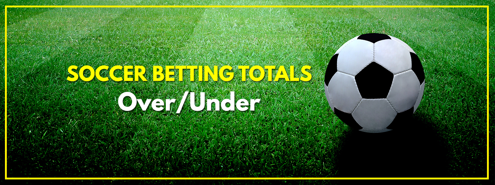 Total Goals Soccer Betting Markets