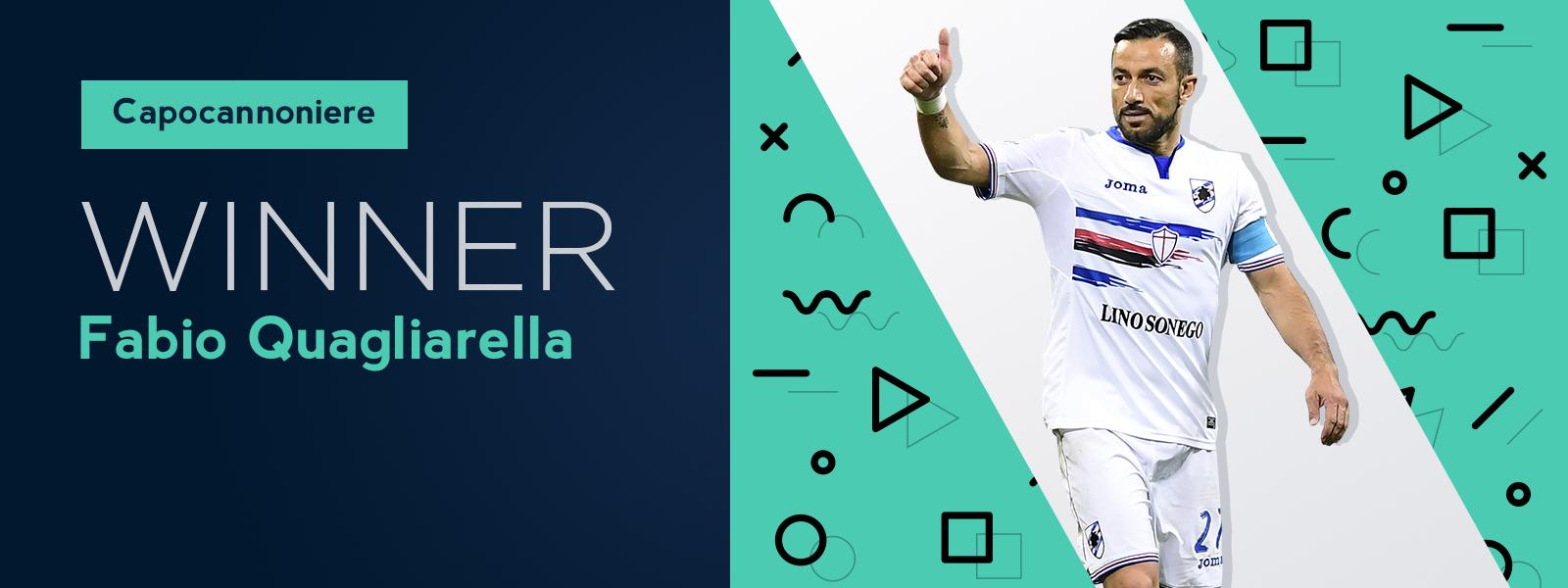 Italy Capocannoniere Title Winner Fabio Quagliarella