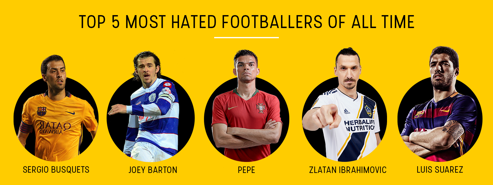Top 5 most hated footballers of all time